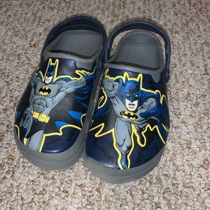 CROCS Boys Batman Slip On Sandals EUC Size 2